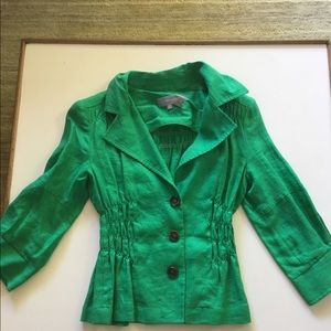 Zara Green Linen Jacket